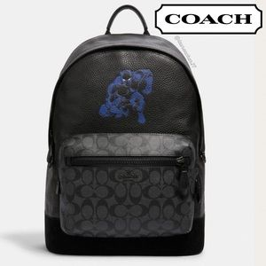 COACH Black Panther Backpack MARVEL Avengers NEW